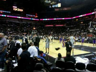 AT&T Center, section: 4, row: 6, seat: 1