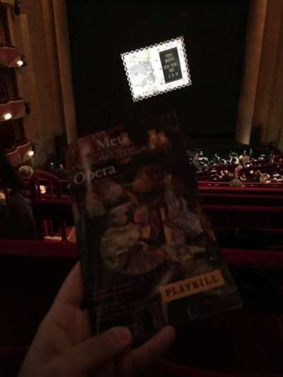 Metropolitan Opera House - Lincoln Center, section: Grand Tier, row: F, seat: 126