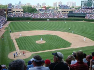 Wrigley Field, section 424, home of Chicago Cubs