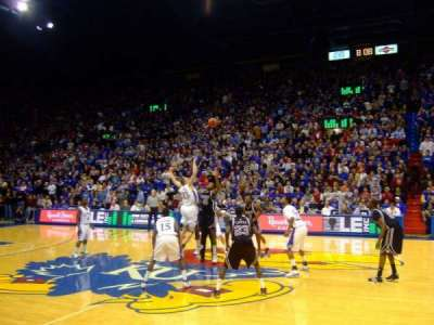 Allen Fieldhouse, section: R, row: 2, seat: 19