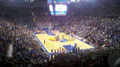 Allen Fieldhouse, section: 2, row: 21, seat: 12