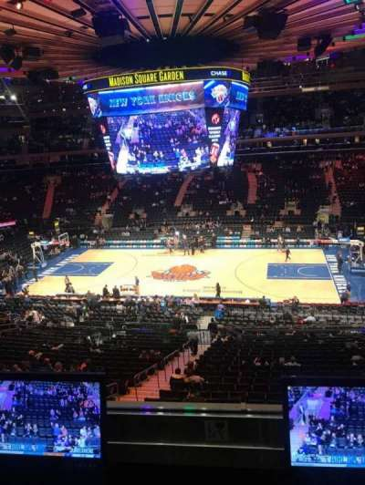 Madison Square Garden, section: 212, row: 2, seat: 7