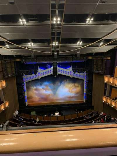 Ahmanson Theatre, section: Balcony, row: A, seat: 23