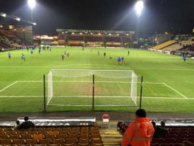 Valley Parade, section: KOP, row: D, seat: M