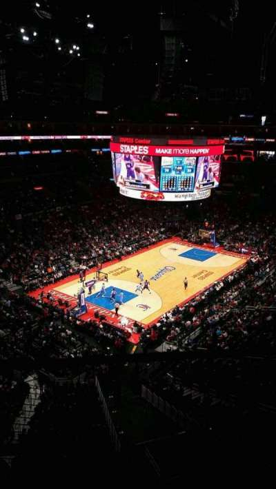 Staples Center, section: 306, row: 1, seat: 5