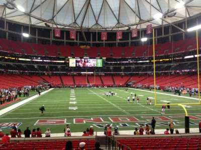Georgia Dome, section: 107, row: 16, seat: 16