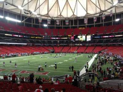 Georgia Dome section 124