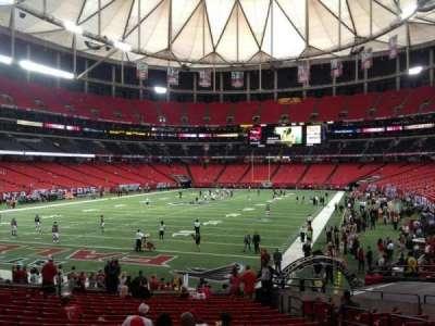 Georgia Dome, section: 124, row: 6, seat: 6