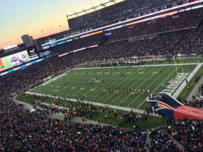 Gillette Stadium, section: 303, row: 1, seat: 3