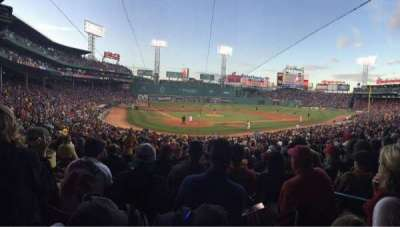 Fenway Park, section: Grandstand 19, row: 1, seat: 3