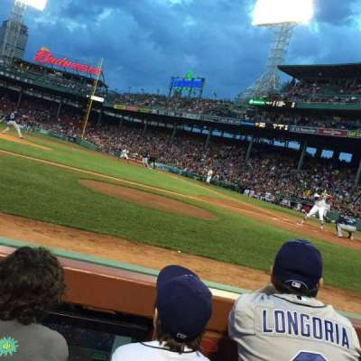 Fenway Park, section: Field Box 57, row: A, seat: 3