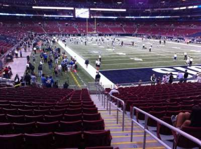 The Dome at America's Center, section: 105, row: U, seat: 2
