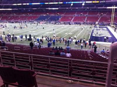 The Dome at America's Center, section: 110, row: AA, seat: 1
