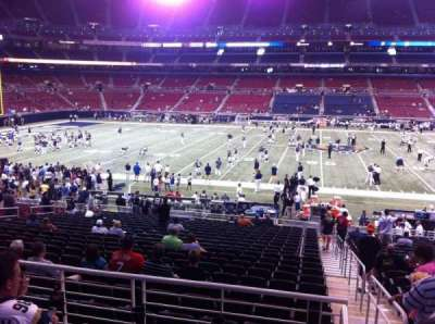 The Dome at America's Center, section: 114, row: CC, seat: 1