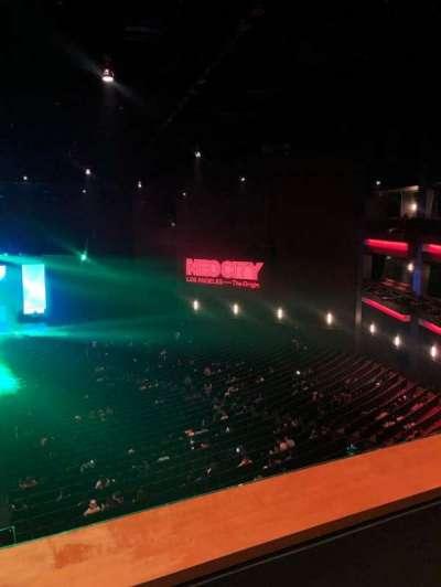 Microsoft Theater, section: Upper Mezz Center Left, row: B, seat: 214