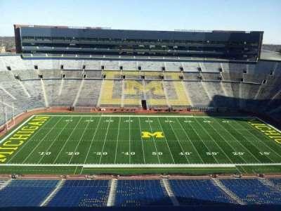 Michigan Stadium section press box