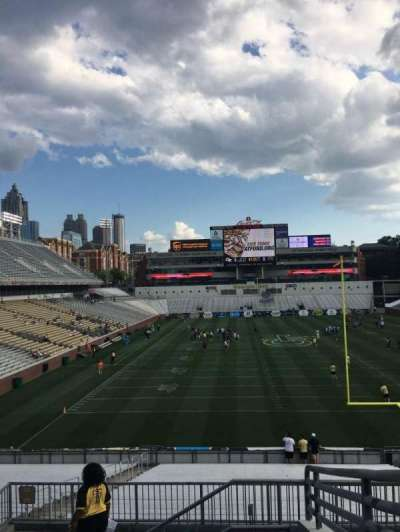 Bobby Dodd Stadium, section: U118, row: 1, seat: 26