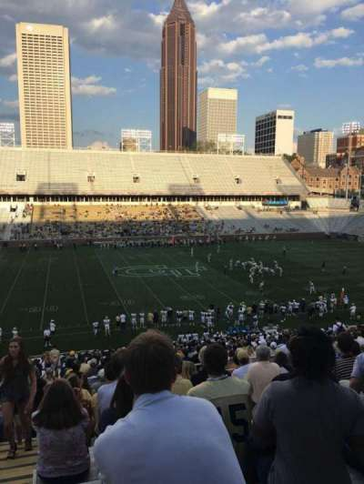 Bobby Dodd Stadium, section: 107, row: 42, seat: 24