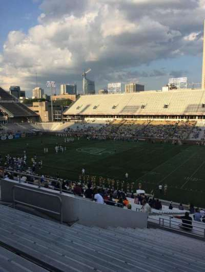 Bobby Dodd Stadium, section: 102, row: 44, seat: 13