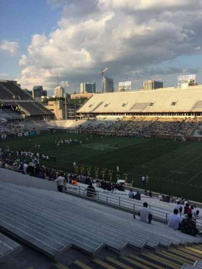 Bobby Dodd Stadium, section: 101, row: 44, seat: 18