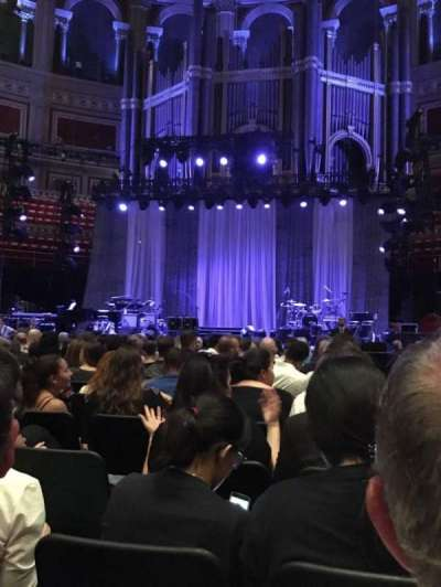 Royal Albert Hall, section: E, row: 16, seat: 25