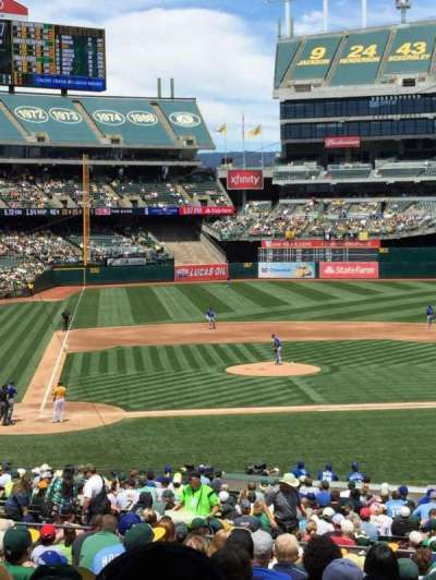 Oakland Alameda Coliseum, section: 114, row: 34, seat: 4