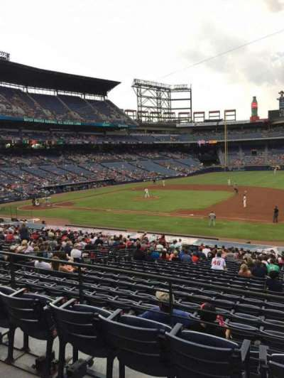 Turner Field, section: 217, row: 1, seat: 101