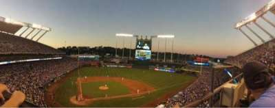 Kauffman Stadium, section: 425, row: A, seat: 9