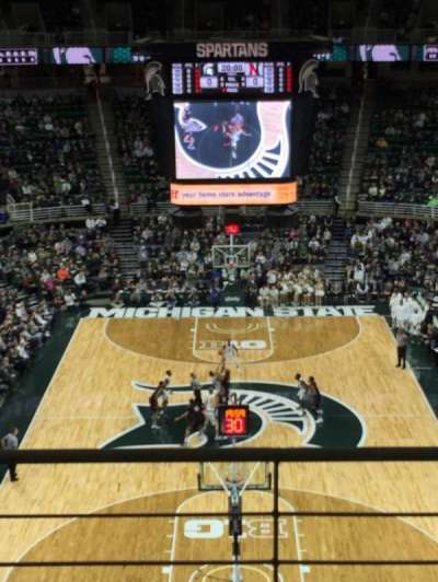 Breslin Center, section: 218, row: 4, seat: 6