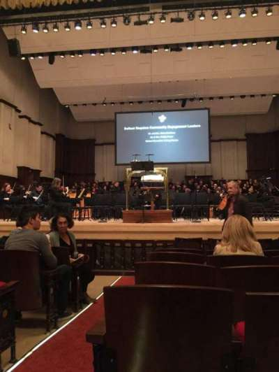 Detroit Orchestra Hall, section: MF, row: H, seat: 1