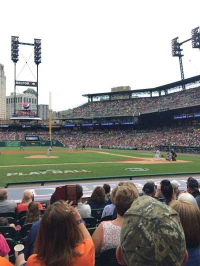 Comerica Park, section: 133, row: 14, seat: 10