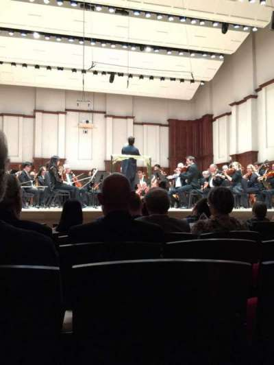 Orchestra Hall, section: MF, row: H, seat: 8