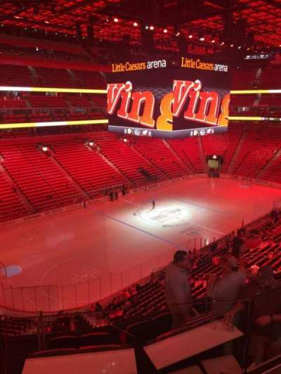 Little Caesars Arena, section: M33, row: 2, seat: 9