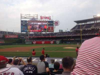 Nationals Park, section: 117, row: K, seat: 8