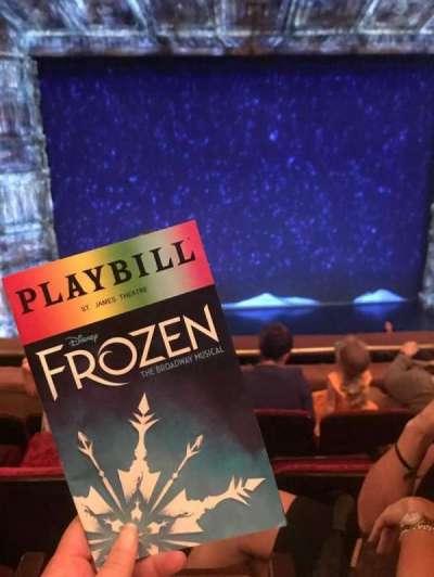 St. James Theatre, section: Mezzanine Center, row: D, seat: 114