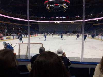 KeyBank Center, section: 123, row: 4, seat: 3