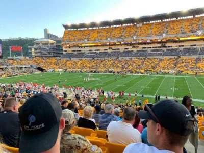 Heinz Field, section: 113, row: FF, seat: 1