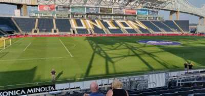 Talen Energy Stadium, section: 111, row: S, seat: 11
