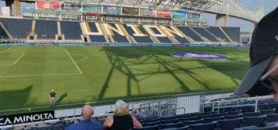 Talen Energy Stadium, section: 111, row: s, seat: 10