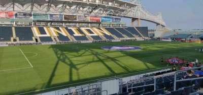Talen Energy Stadium, section: 111, row: s, seat: 9