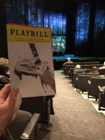 Laura Pels Theatre, section: Orchestra L, row: L, seat: 1