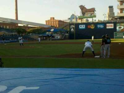 Durham Bulls Athletic Park, section: 112, row: D, seat: 12