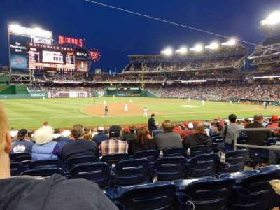 Nationals Park, section: 114, row: L, seat: 3