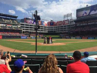 Globe Life Park in Arlington, section: 25, row: 2, seat: 10