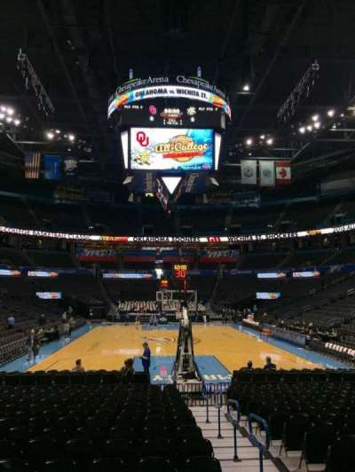 Chesapeake Energy Arena, section: 101, row: RR, seat: 2