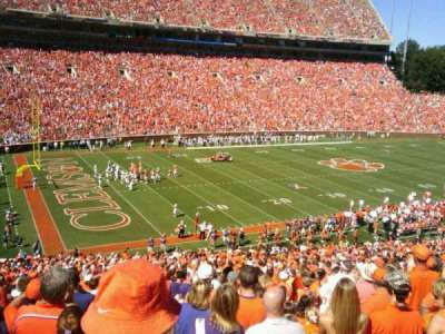 Memorial Stadium, Clemson, section: ui, row: E, seat:  20