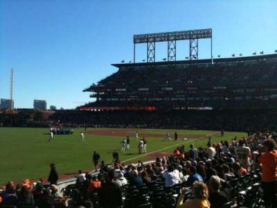 AT&T Park, section: LB134, row: 19, seat: 5