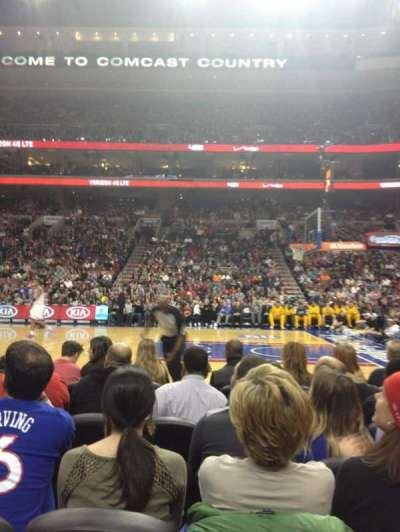 Wells Fargo Center, section: 115, row: 2, seat: 10