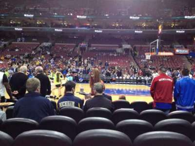Wells Fargo Center, section: 114, row: 2, seat: 10