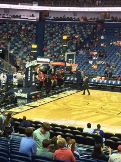 Smoothie King Center, section: 101, row: 17, seat: 6
